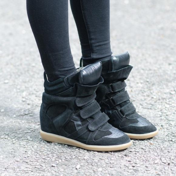 3da59240318 Isabel Marant Shoes | Black Bekkett Wedge Sneakers Fr 38 | Poshmark